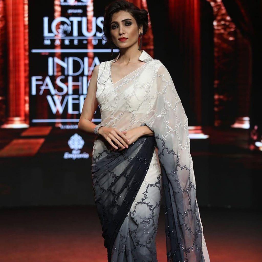 IMG 5517 Ravi Bajaj 60/70s throwback makes it big at phygital India Fashion Week