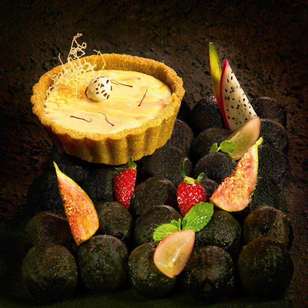 Besan Laddoo Tart Saffron Cheesecake Manish Mehrotra - Rare Culinary Exemplar