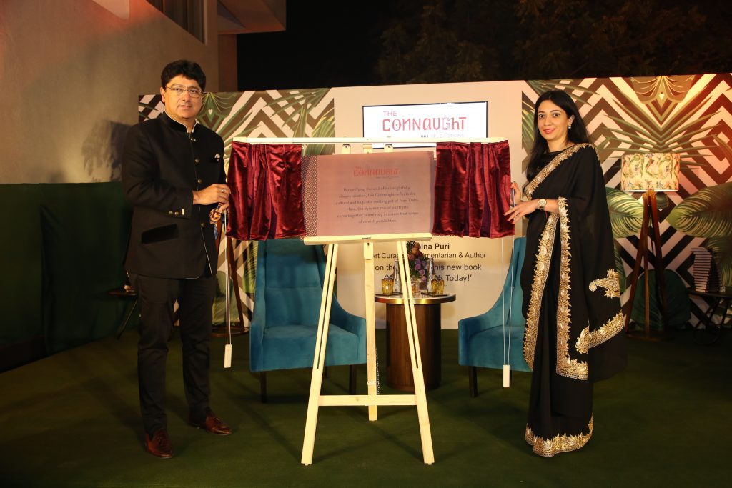 Mr. Puneet Chhatwal Ms. Sonali Chauhan Unveiling The Connaught Plaque Unveiling The Connaught New Delhi in the presence of VIPs and celebrities