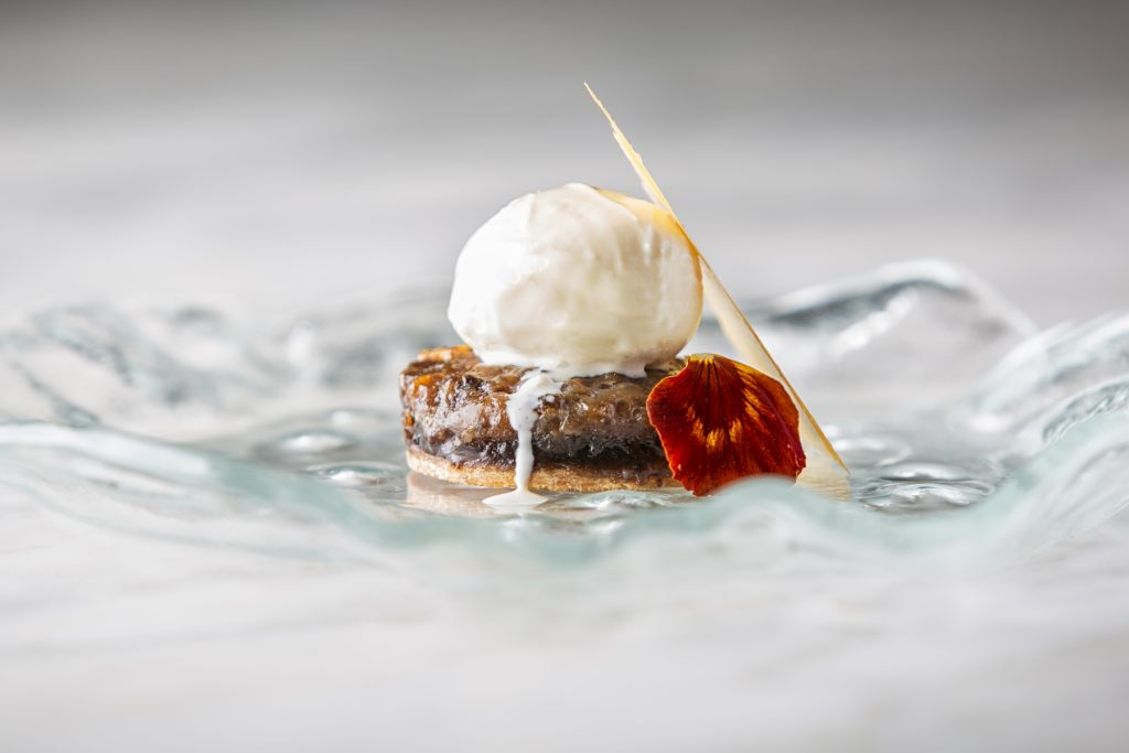 doda barfi treacle tart vanilla bean ice cream Manish Mehrotra - Rare Culinary Exemplar