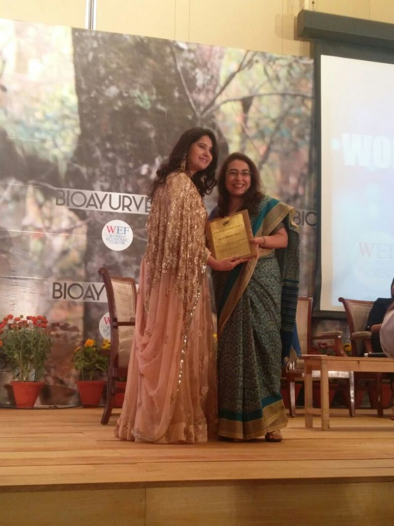 speaking at Women Economic Forum felicitation by Dr Harbeen Arora Ritu Bhatia Kler : A journey of a 1000 miles must begin with a single step