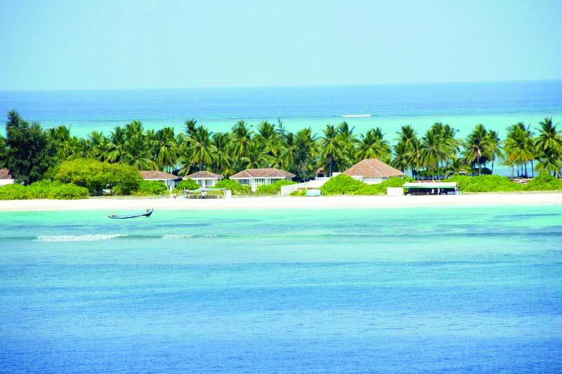 A beach side resort at Kadmat Island Lakshadweep Best Islands To Visit In India