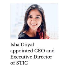 Isha Goyal appointed CEO Stic