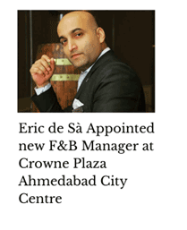 Eric De Sa appointed F&B Manager