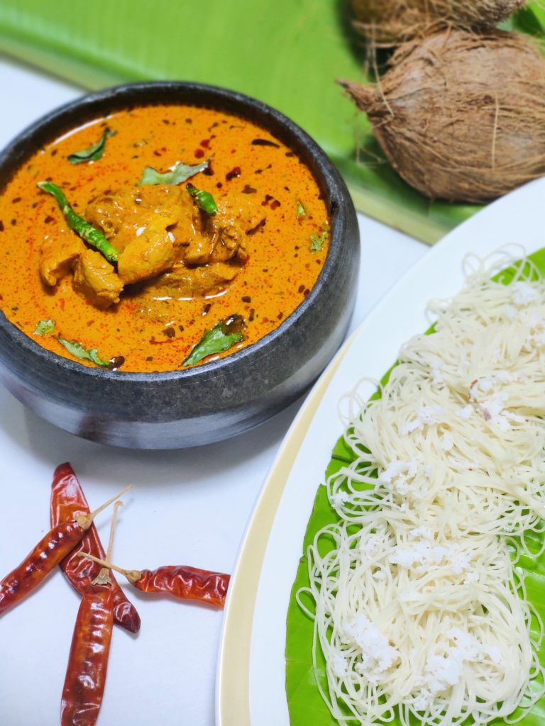 CHICKEN CEYLON CURRY and IDDIYAPPAM Try your hand - 20 most popular dishes at Indian weddings