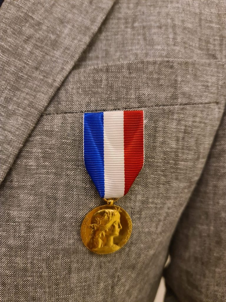 Medal of Honor Sylvain Laroche bestowed with the Medal of Honor by the Ministry of Europe and Foreign Affairs