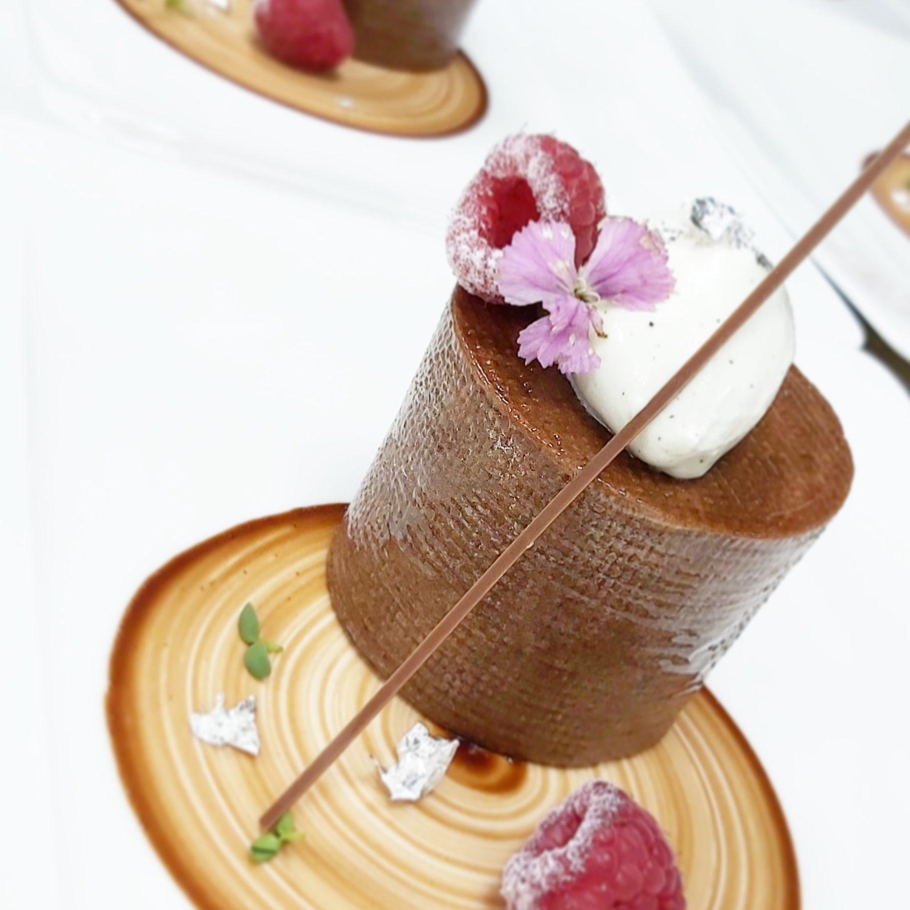 Favourite Choco Delight - Chocolate Hazelnut Soufflé Tart by Exec Pastry Chef Santosh Rawat, JW Marriott Mumbai Sahar