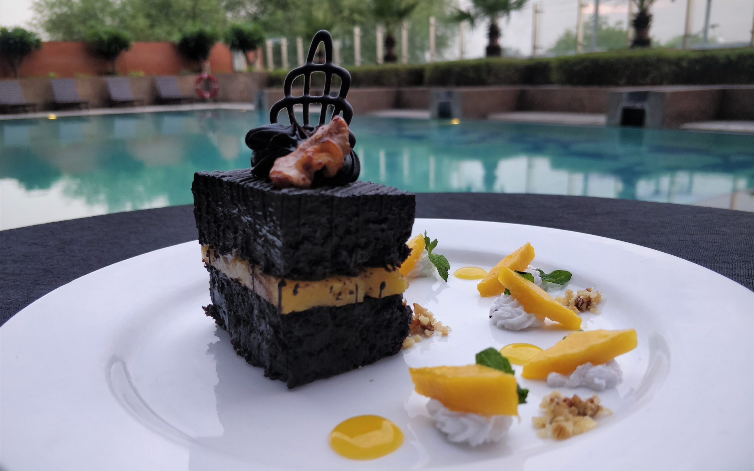 Favourite Choco Delight - Fresh Minted Mango and Chocolate Pave by Exec Chef Mohit Mishra, Vivanta Hyderabad, Begumpet