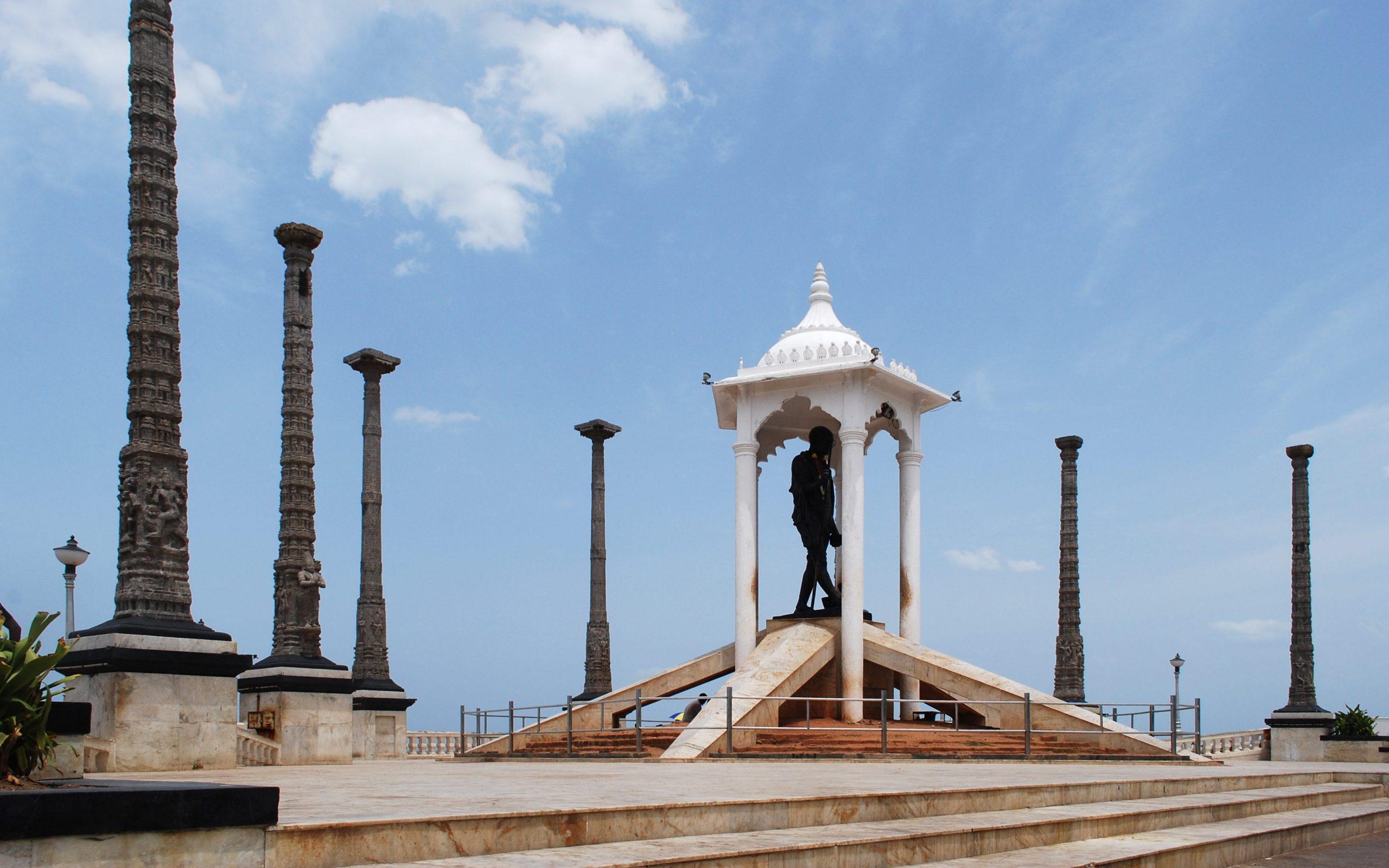 GandhiStatuePondicherry edited scaled 10 best places to visit in Pondicherry