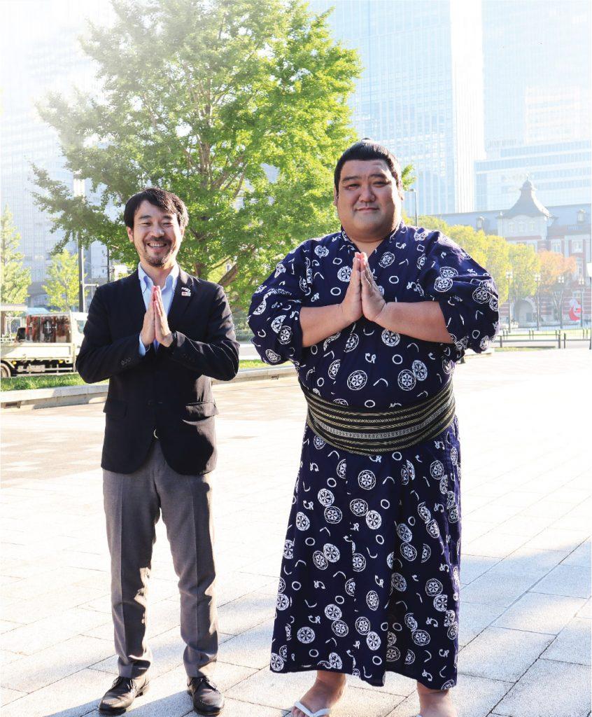 L-R  Yusuke Yamamoto San, Executive Director, Japan National Tourism Organization (JNTO) with Yoshinori Tashiro