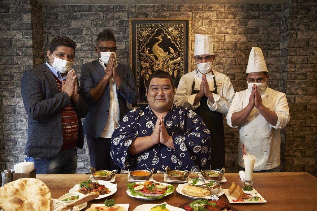Yoshinori Tashiro enjoying Indian food in Japan -JNTO