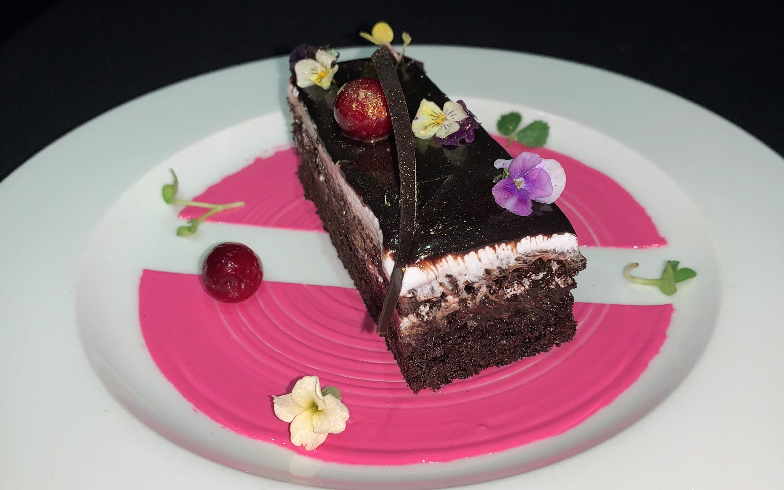 Favourite Choco Delight - Latvian Chocolate Red Current pastry by Exec Chef Debabrata Mukherjee, The Fern, Goregaon