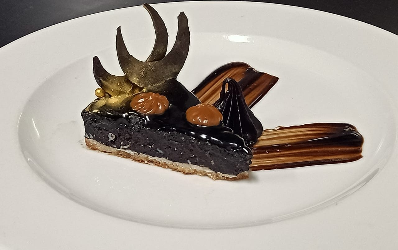 Favourite Choco Delight -  Chocolate Truffle Tart by Sous Chef Manish Singh, The Ummed Ahmedabad