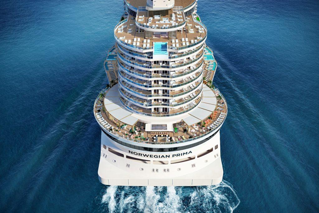 norwegianprima stern rendering Norwegian Cruise Line unveils Norwegian Prima with sensational 2022-23 itineraries