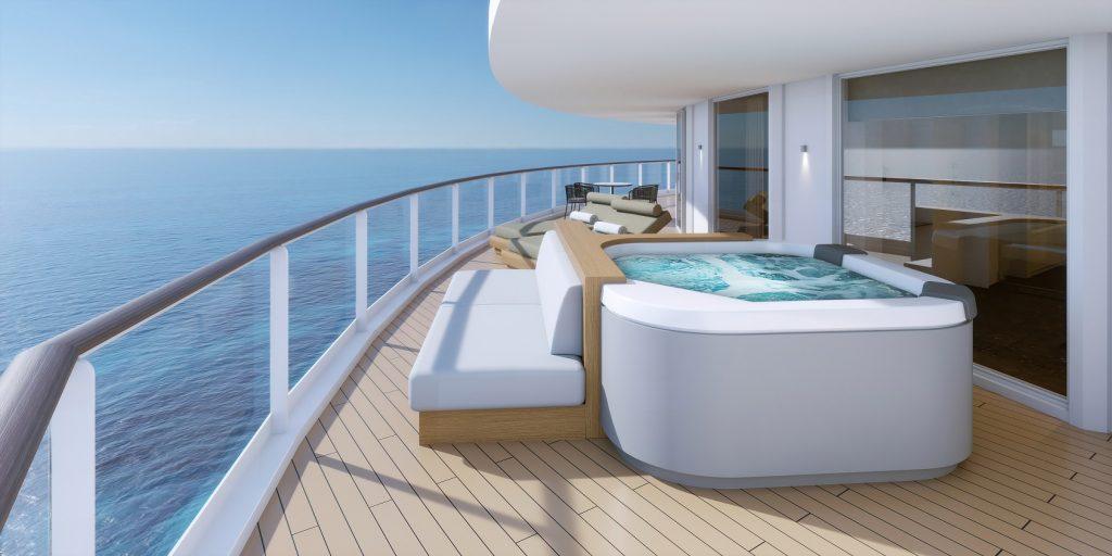 norwegianprima thehavendeluxeowner039ssuitewithlargebalcony h3 balconyhottub rendering Norwegian Cruise Line unveils Norwegian Prima with sensational 2022-23 itineraries