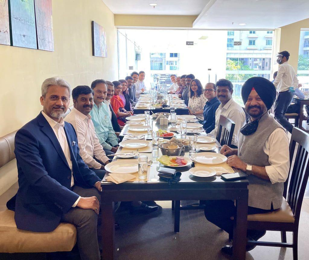 Vineet Verma with team at Brigade Hospitality
