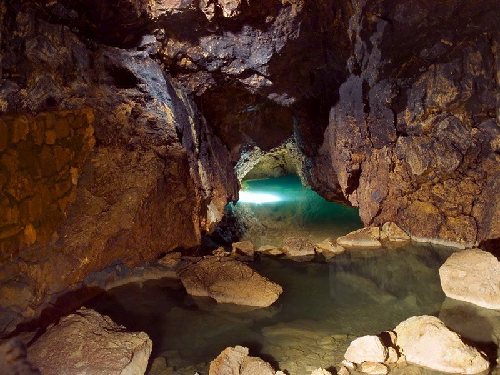 Dive into Punkva Underground River