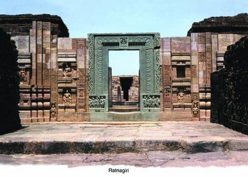 Entrance monastery Buddhist Ratnagiri Cuttack India Odisha Discover the charm of an iconic Buddhist circuit in Odisha