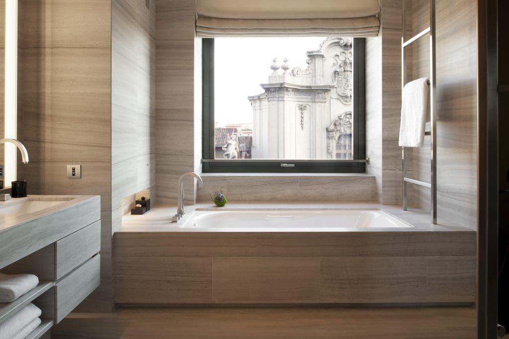 luxurious hotel bathrooms Armani Hotel Milano
