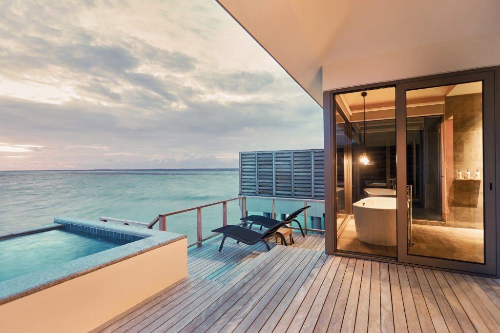 Le Meridien Maldives Resort & Spa Sunset Overwater Pool Villa Deck