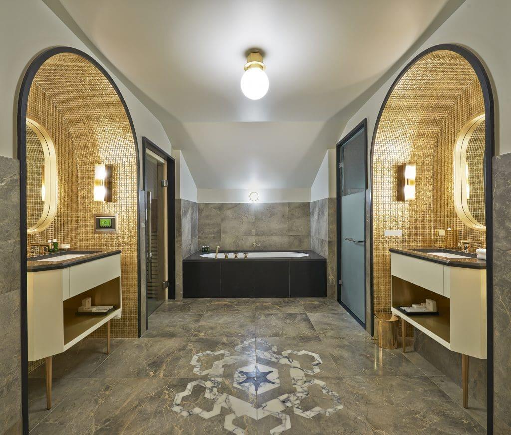 luxurious hotel bathrooms - The Penthouse at L'Apogée Courchevel