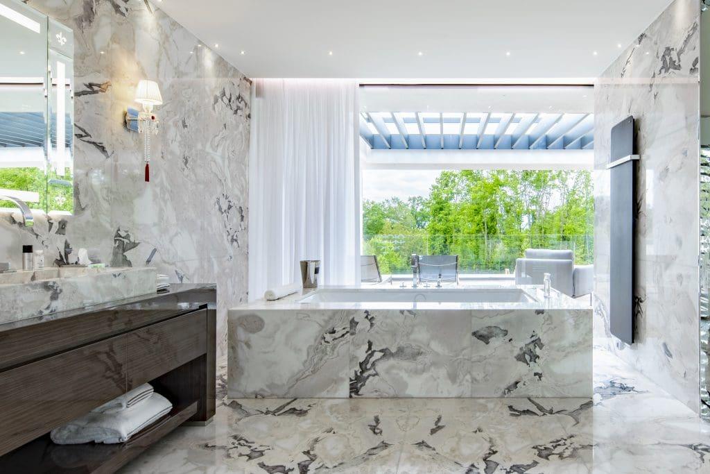 luxurious hotel bathrooms Ultima Geneva Grand Villa